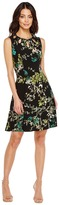 Christin Michaels Lillian Sleeveless Dress with Neckline Detail Women's Dress