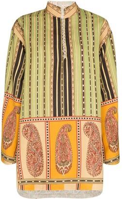 Etro Printed Reversible Tunic Dress