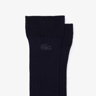 Lacoste Men's Ribbed Cotton Blend Socks