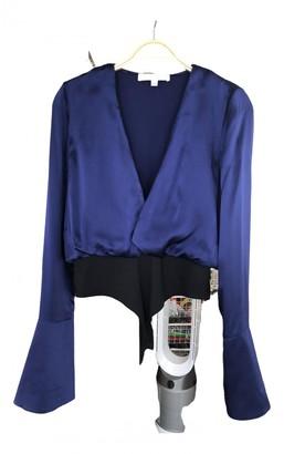 Caroline Constas Blue Silk Tops