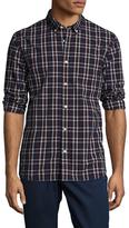 Jachs Button Collar One Pocket Tartain Plaid Shirt