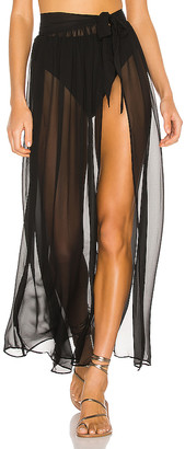 superdown Catalina Sheer Maxi Skirt