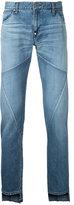 Factotum panelled step hem jeans - men - Cotton - 28