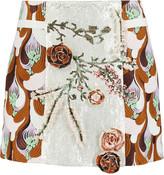 Giambattista Valli Embellished embroidered cotton-blend mini skirt
