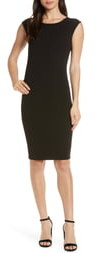 Elizabeth Crosby Megan Low V-Back Sheath Dress