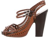 Tabitha Simmons Leather Crossover Sandals