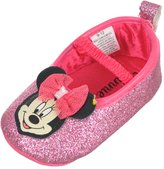 "Disney Minnie Mouse Baby Girls' ""Glittering Smiles"" Ballet Flat Booties"