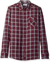 Tommy Hilfiger Men's Long Sleeve Double Cloth Plaid Button Down Shirt
