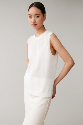 Cos Sleeveless Cotton-Mix Top