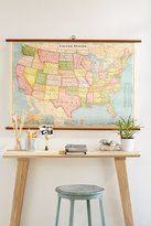 Urban Outfitters USA Map School Chart Wall Hanging