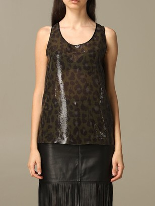 Boutique Moschino Moschino Boutique Top In Animalier Sequins