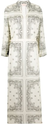 Tory Burch Bandana-Print Cotton Dress