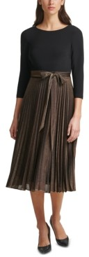 Jessica Howard Layered-Look Pleated Midi Dress
