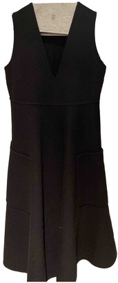 Rochas Black Wool Dresses