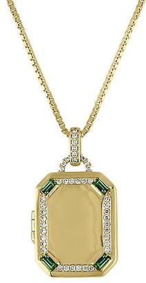My Story The Charlotte 14K Yellow Gold, Diamond & Emerald Locket Necklace