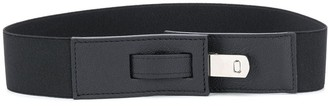 Peserico Silver Buckle Leather Belt