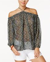 Say What Juniors' Off-The-Shoulder Peasant Top