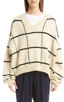 Dries Van Noten Women's Windowpane Knit Wool Sweater
