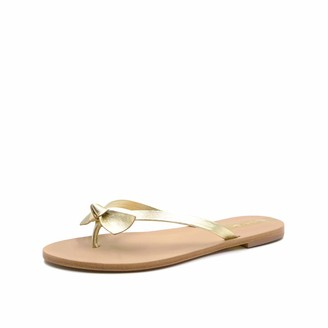 Kaanas Women's Macapa Thong Sandal with Bow Flat