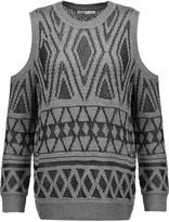 Rebecca Minkoff Page cutout metallic open-knit sweater