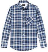 Rag & Bone Fit 3 Beach Checked Herringbone Stretch-Cotton Shirt