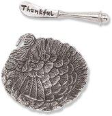 Mud Pie Harvest 2-Piece Turkey Dip Bowl & Thankful Spreader Set