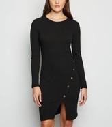 New Look Mela Ribbed Long Sleeve Bodycon Dress