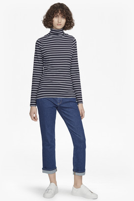 French Connection Isla Polo Neck Tim Tim Stripe Top