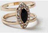 Dorothy Perkins Womens Split Vintage Ring- Black