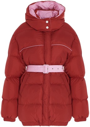 MSGM Belted Hooded Down Jacket