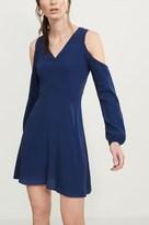 Dynamite Cold Shoulder Flare Dress