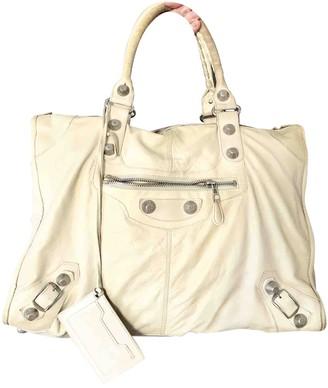 Balenciaga Weekender White Leather Travel bags
