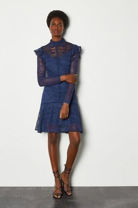Karen Millen Chemical Lace Ruffle Dress