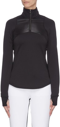 Erin Snow 'Lux' chintz panel half zip performance top