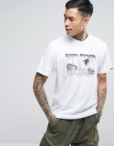 Vans Push Through T-Shirt In White Va313cwht
