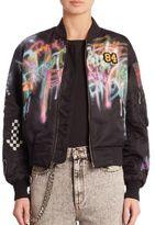 Marc Jacobs Spray Paint Bomber Jacket