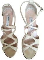 Sonia Rykiel Ecru Leather Sandals