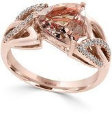 Effy Morganite (2-1/4 ct. t.w.) and Diamond (1/8 ct. t.w.) Ring in 14k Rose Gold