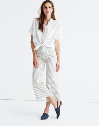 Madewell Striped Wide-Leg Crop Pants