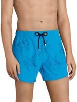 BOSS Hugo Boss Whiteshark Embroidered 15#double; Outseam Swim Trunks