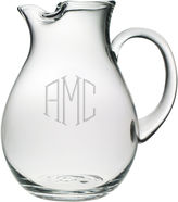 JCPenney 3 Letter Diamond Monogrammed Glass Pitcher