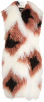 Fendi Wide-collar lamb-fur and shearling coat