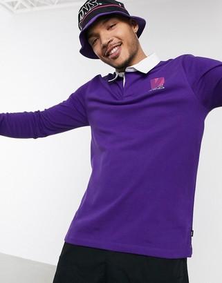 Vans Retro Sport long sleeve polo shirt in purple