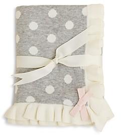 Elegant Baby Girls' Polka Dot Blanket