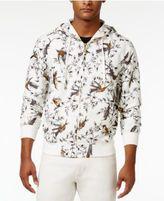 Sean John Men's Bird-Print Zip-Front Linen Hoodie
