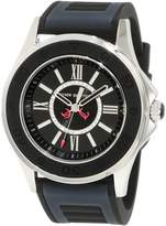 Juicy Couture Women's Black Dial Navy Blue & Black Rubber