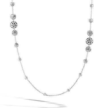 John Hardy Dot Hammered Silver Moon Phase Station Necklace, 36""