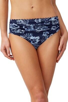 Tommy Bahama Chambray Blossoms High-Waist Bikini Bottoms