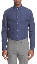 Paul Smith Trim Fit Long Sleeve Micro Paisley Print Dress Shirt