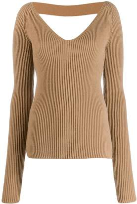 No.21 open back knitted sweater